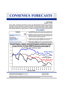 Consensus Forecasts - G-7 & Western Europe**