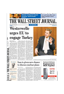 The Wall Street Journal Europe (online) New**