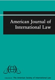 American journal of international law**