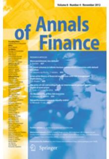 Annals of finance**