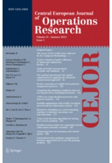 Central European journal of operations research**