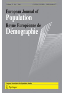 European Journal of Population / Revue europeenne de Demographie**