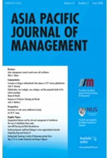 Asia Pacific journal of management**