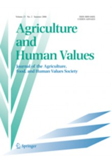 Agriculture and human values**