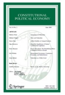 Constitutional political economy**