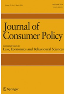 Journal of consumer policy**