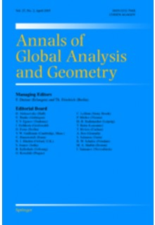 Annals of global analysis and geometry**