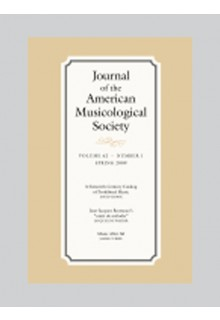 American musicological society journal**