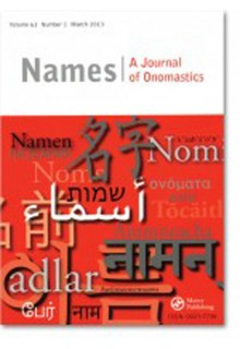 Names: A Journal of Onomastics**