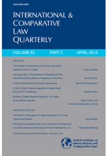 International and comparative law quarterly**