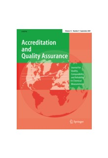 Accreditation and Quality Assurance (print+online)**